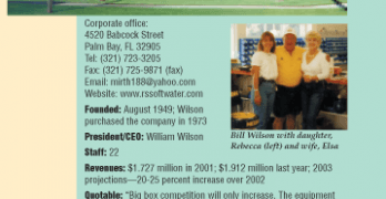 Beating the 'Blue Suede Shoe Boys': R&S Soft Water Service Inc., of Palm Bay, Fla.
