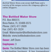 Surfing for Refreshment: The Bottled Water Store.com