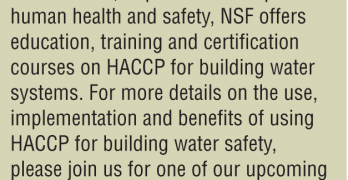 HACCP forBuilding Water Systems