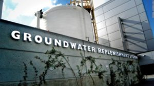 Fully processed wastewater is returned to the fresh water supply. (Photo source: Orange County Water District www.ocwd.com/gwrs)