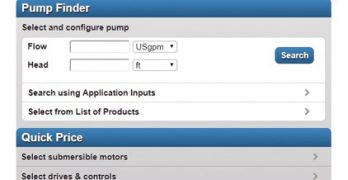Pump selector software