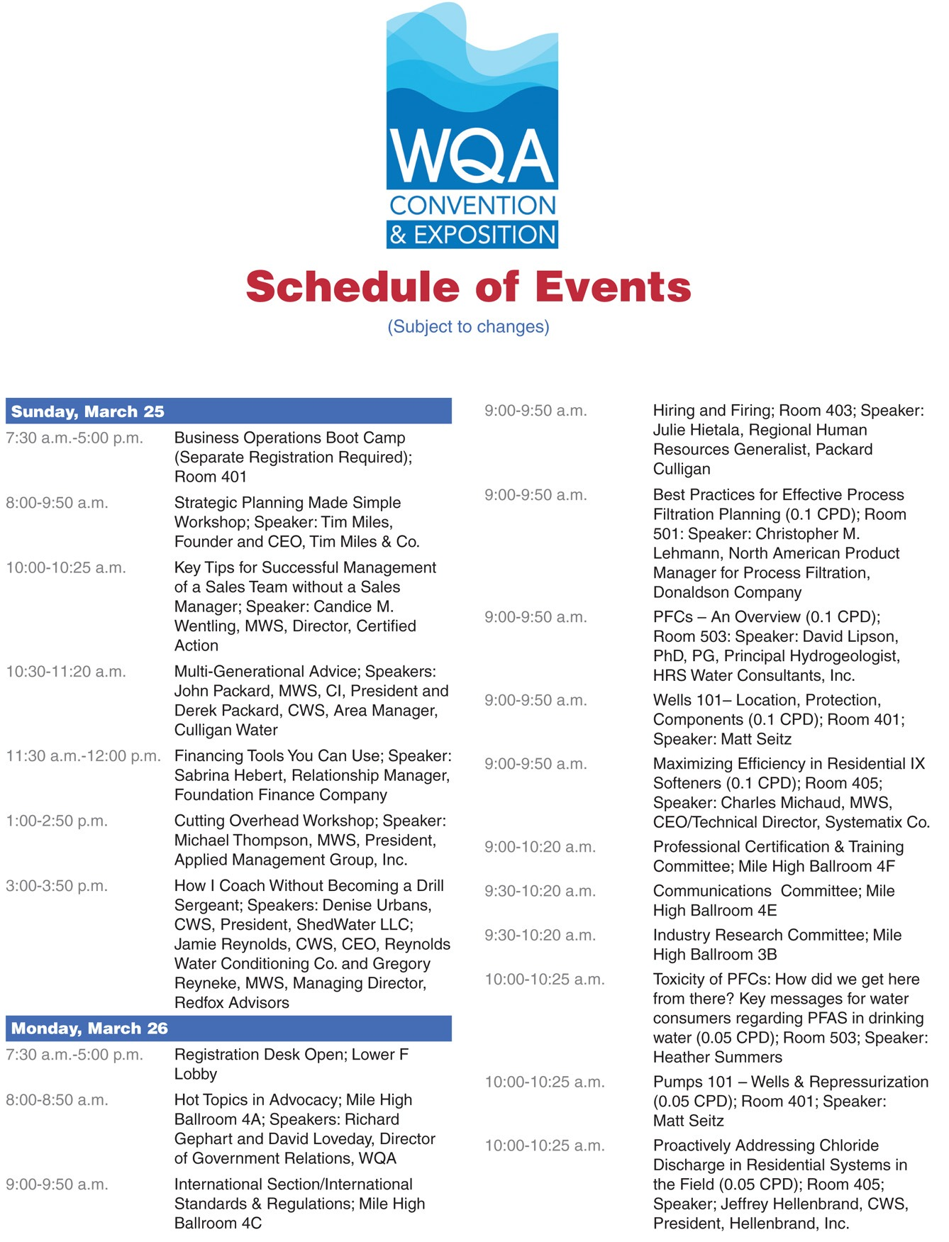 Wqa 2018 convention schedule of events wcp online wqa 2018 convention schedule of events 1betcityfo Choice Image