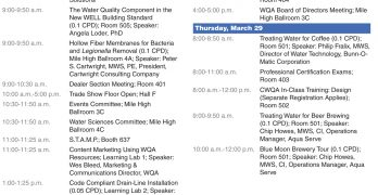 WQA 2018 Convention Schedule of Events